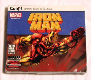 Snap CD ROM Comic Book Library Iron Man Win Mac
