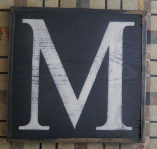 Large Letter M Urban Graphics Alphabet Wooden Letter Boards Chas