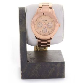 Fossil ES2859 Stella Plated Rose Gold Stainless Steel Womens Watch
