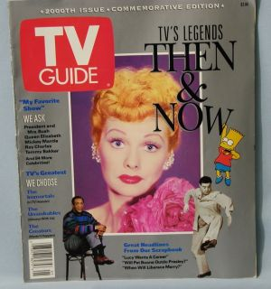1991 TV Guide 2000th Commemorative Issue Legends Lucy