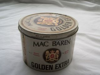 Vintage Mac Baren Tobacco Tin Distributed by Fireside Industries Inc