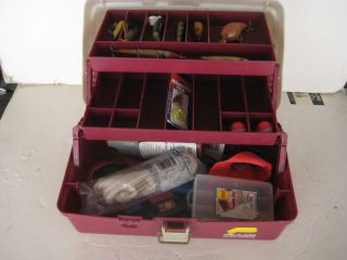 tackle systems fishing tackle box with luers hooks gear estate lot