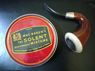 30 yr Mac Barens Macbarens Solent Mixture Pipe Tobacco Tin SEALED