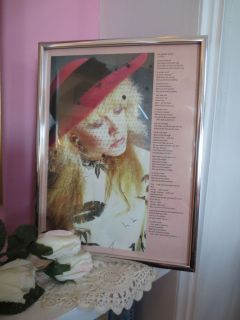 Little Stevie Nicks Framed Photo No Spoken Word Fleetwood Mac Gypsy