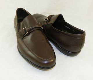 New Santoni Mack Brown Loafers Men Shoes Made in Italy Sz 11 $495