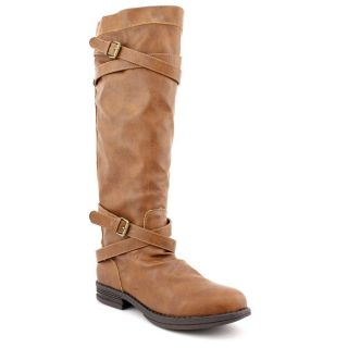 Madden Girl Zerge Womens Size 7 Brown Faux Leather Fashion   Knee High