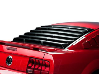 Mustang Mach Speed Rear Window Louvers Textured ABS