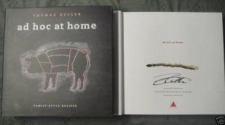 Thomas Keller Ad Hoc at Home Book 1 1 DJ HC Signed New