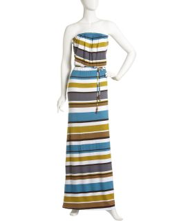 Madigan Strapless Striped Maxi Dress
