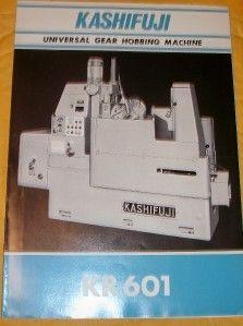 Kashifuji Works Catalog Gear Hobbing Machine Japan Tool