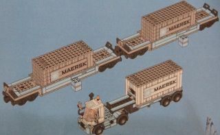 from Set 10219 Maersk Train Truck Trailer and Container Only