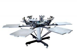 Screen Printer Multicolor T Shirt Press Screen Printing Machine