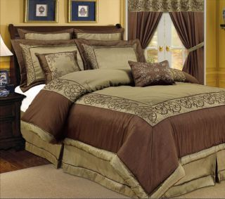 Luxury Bed Linens Full Queen Comforter Set by Royal Hotel Collection 8