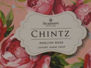 Chintz Pecksniffs English Rose Luxury Soap Gift Set of 3 in Beautiful