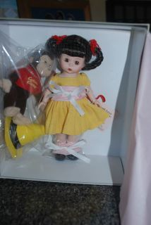 Wendy Loves Curious George 8 Madame Alexander Doll New