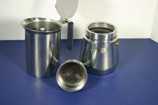 Espresso Coffee Pot Perculator Made in Italy Stainless Steel