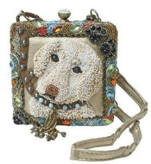 Mary Frances Girls Best Friend Dog Beige Puppy Bag Purse Handbag New