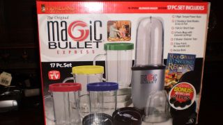 Magic Bullet Express New in Box 17 PC Homeland Housewares Retails $90