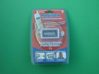 Magicjack USB Phone Jack 1 Year Free Calling Magic Jack