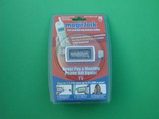 Magicjack USB Phone Jack 1 Year Free Calling Magic Jack