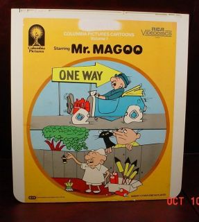 MR. MAGOO COLUMBIA PICTURES CARTOONS VOL 1 RCA Selectavision CED