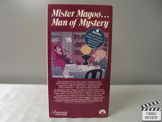Mister Magoo Man of Mystery VHS 4 Stories with Jim Backus as Mr Magoo