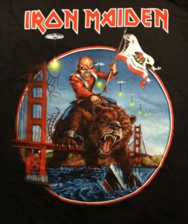 Iron Maiden Maiden England 2012 California Event Shirt Medium