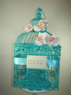 Orchid Wedding Birdcage Card Holder Wedding Card Box