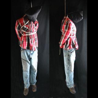 Lifesize 6 Hanging Man Scary Haunted House Halloween Life Size Prop