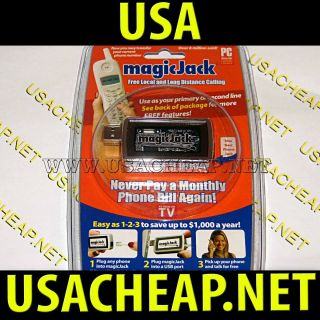 Magic Jack NEW Free Local & Long Distance Phone 1 Year Service Free
