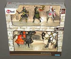 2012 BBI Blue Box Knights Figures Medieval Armed Soldiers Horses Joust
