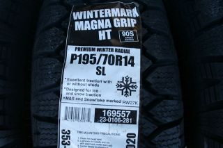 Two Brand New 195 70 14 Wintermark Magna Grip HT Tires 90s Shipping