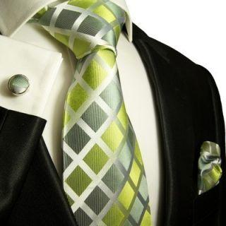 460CH Green Paul Malone Designer Set 100 Silk New
