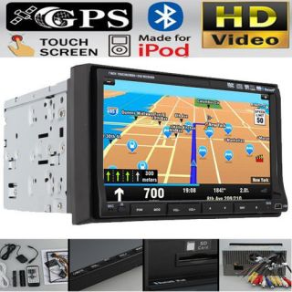 Official GPS Map Car Stereo DVD Radio Player 7 Touch Screen In Dash