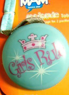 Rule MAM Pink Tiara Crown Pacifier Holder Tote Golf Ball Tees Baby