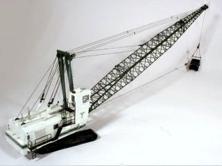 Manitowoc 4600 Dragline Crane Tidewater Green White Only 26 BRASS 1 87