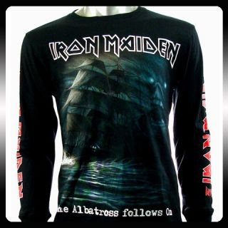 Iron Maiden Rock Punk LS Long Sleeve T shirt Sz XL Heavy Metal Men