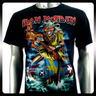 Iron Maiden Heavy Metal Rock Punk T Shirt Sz M Biker Rider IR36