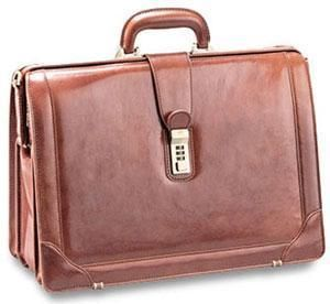 Mancini Italian Leather 17 Laptop Lawyers Brief Business Case