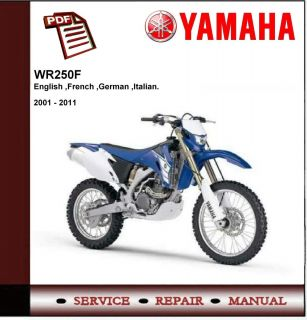Yamaha WR250 WR250F 2001 2011 Workshop Service Manual