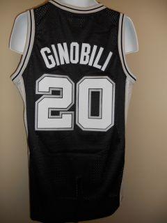 NEW Manu GINOBILI #20 San Antonio SPURS LARGE L Adidas Swingman Jersey