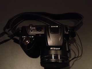 Nikon COOLPIX L120 14.1 MP Digital Camera   Black. W/bag And Card