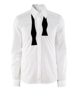 Maison Martin Margiela MMM H M Bow Tie Shirt Dress Shirts Size XL