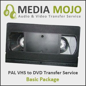PAL VHS to NTSC DVD Transfer Service Basic Package