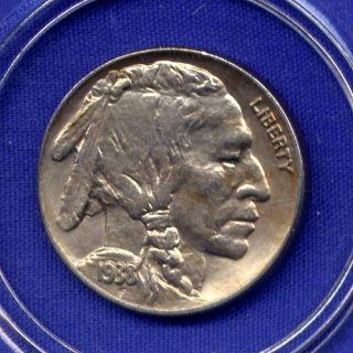 1938 D Buffalo Nickel High Grade PQ Stunner Rare Date Genuine US Mint