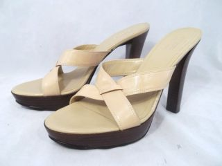 Guess by Marciano Platform Cross Strap Leather Stiletto Heels Womens 7