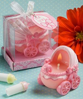 36 Adorable Baby Pink Carriage Candles Baby Shower Favors