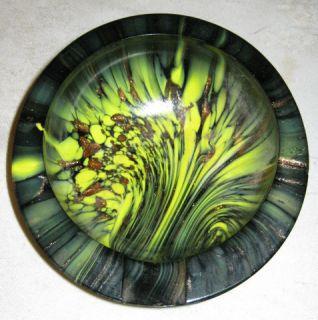 Murano Art Glass Tray Ashtray Marble Italy Retro Modern Mid Century