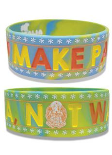 Hetalia Axis Powers Make Pasta Not War Rubber Bracelet Wristband anime