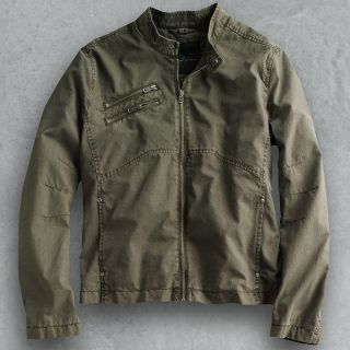 Marc Anthony Canvas Motorcycle Jacket Coat   NWT   $160   OLIVE   XL